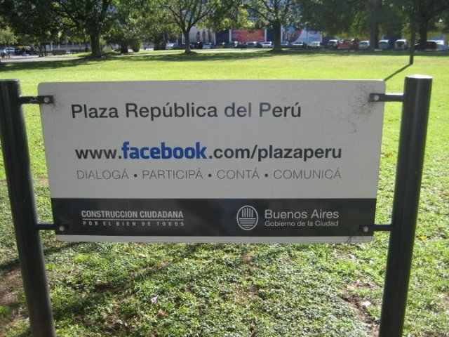 Facebook Page for Buenos Aries park